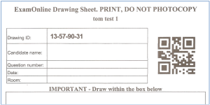 ExamOnline drawing sheet