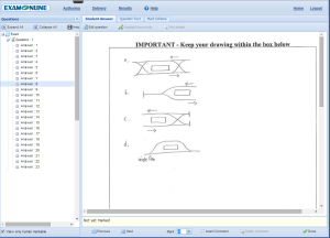 Sketches are uploaded and automatically embedded into candidate answers